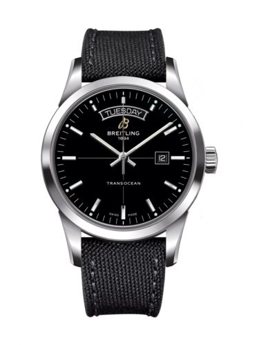 Breitling A4531012/BB69/109W/A20BA.1 : Transocean Day & Date Stainless Steel / Black / Military