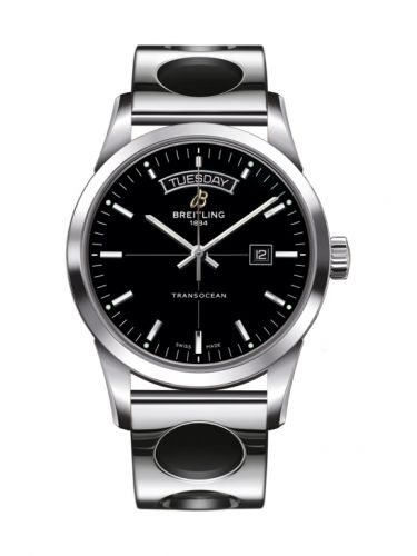 Breitling A4531012/BB69/222A : Transocean Day & Date Stainless Steel / Black / Racer
