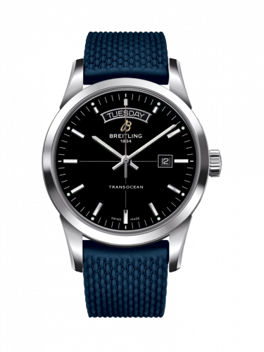 Breitling A4531012/BB69/281S/A20D.2 : Transocean Day & Date Stainless Steel / Black / Rubber / Folding