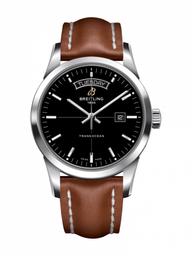 Breitling A4531012/BB69/434X/A20D.1 : Transocean Day & Date Stainless Steel / Black / Calf / Folding