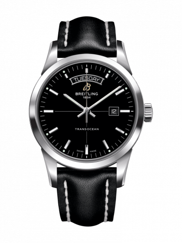 Breitling A4531012/BB69/438X/A20D.1 : Transocean Day & Date Stainless Steel / Black / Calf / Folding