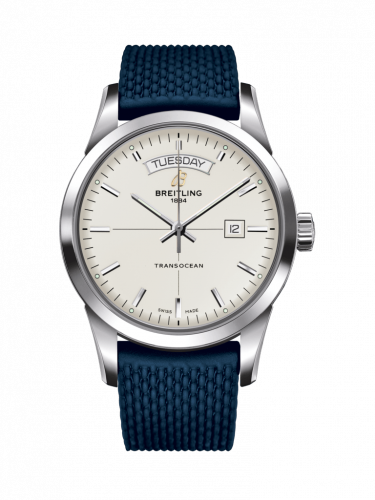 Breitling A4531012/G751/280S/A20S.1 : Transocean Day & Date Stainless Steel / Silver / Rubber / Pin