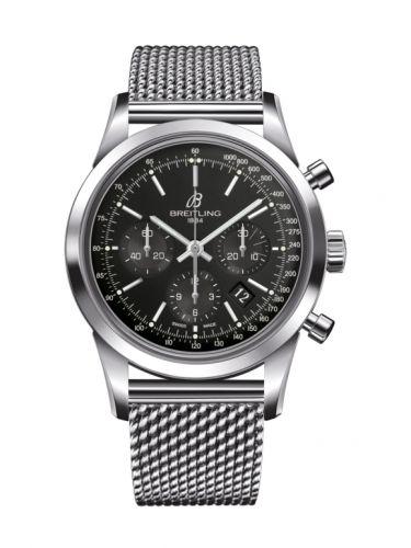 Breitling AB0152121B1A1 : Transocean Chronograph Stainless Steel / Black / Bracelet