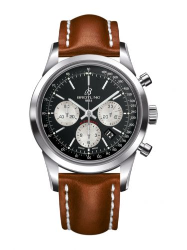 Breitling AB015212/BF26/433X/A20BA.1 : Transocean Chronograph Stainless Steel / Reverse Panda / Calf / Pin