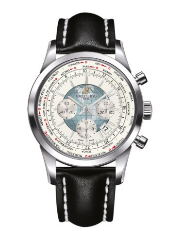 Breitling AB0510U0.A732.441X : Transocean Chronograph Unitime Stainless Steel / Silver / Calf