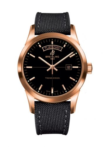 Breitling R4531012/BB70/109W/R20BA.1 : Transocean Day & Date Red Gold / Black / Military / Pin