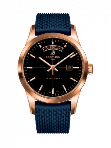 Breitling R4531012/BB70/281S/R20D.3 : Transocean Day & Date Red Gold / Black / Rubber / Folding