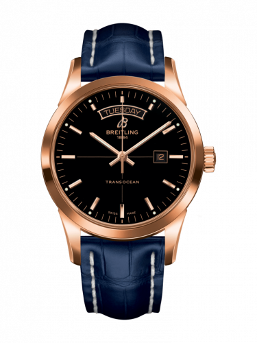 Breitling R4531012/BB70/731P/R20BA.1 : Transocean Day & Date Red Gold / Black / Croco / Pin