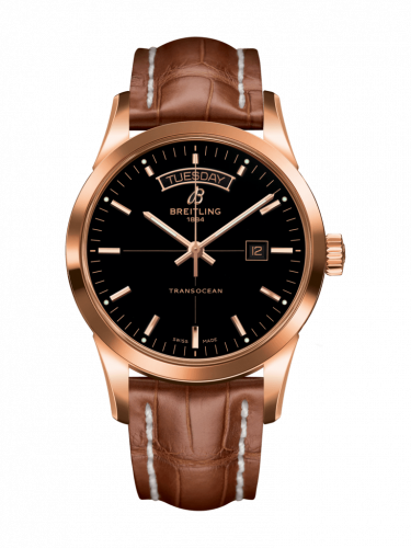 Breitling R4531012/BB70/737P/R20BA.1 : Transocean Day & Date Red Gold / Black / Croco / Pin
