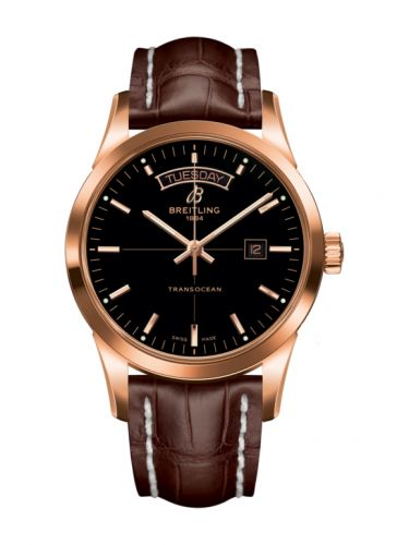 Breitling R4531012/BB70/739P/R20BA.1 : Transocean Day & Date Red Gold / Black / Croco / Pin