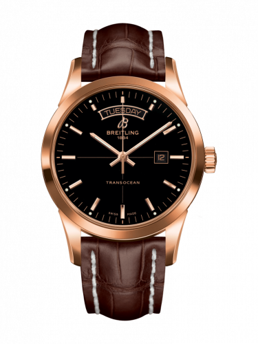 Breitling R4531012/BB70/740P/R20D.1 : Transocean Day & Date Red Gold / Black / Croco / Folding