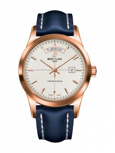 Breitling R4531012/G752/112X/R20D.1 : Transocean Day & Date Red Gold / Silver / Calf / Folding