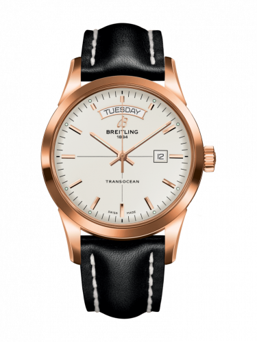 Breitling R4531012/G752/435X/R20BA.1 : Transocean Day & Date Red Gold / Silver / Calf / Pin