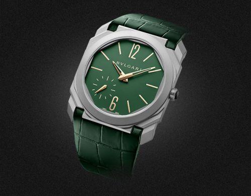 Bulgari 100995 : Octo Finissimo Automatic Titanium / Green / Harrods
