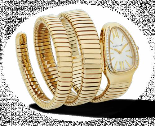 Bulgari 101923 : Serpenti Tubogas Yellow Gold Diamond Double Tour