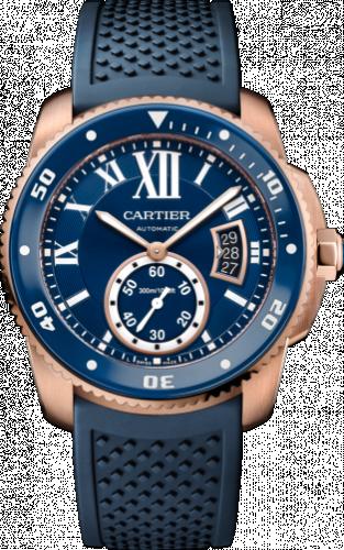 Cartier WGCA0010 : Calibre de Cartier Diver Pink Gold / Blue