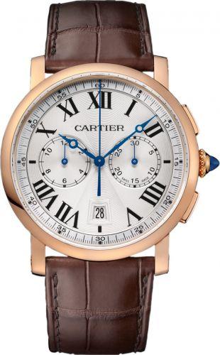 Cartier W1556238 : Rotonde de Cartier Chronograph Pink Gold / Silver