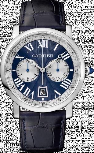 Cartier W1556239 : Rotonde de Cartier Chronograph White Gold / Blue