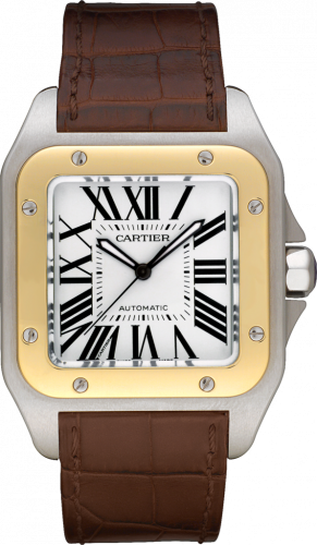 Cartier W20072X7 : Santos 100 41.3  Stainless Steel / Yellow Gold