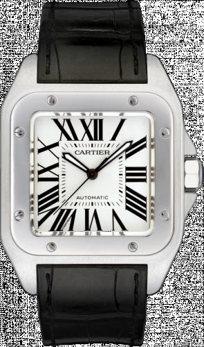 Cartier W20073X8 : Santos 100 41.3  Stainless Steel / Silver