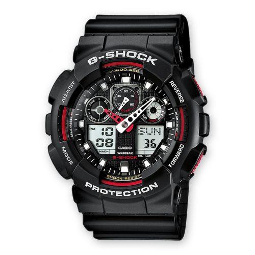 Casio GA-100-1A4 : GA-100-1A4 Black Red