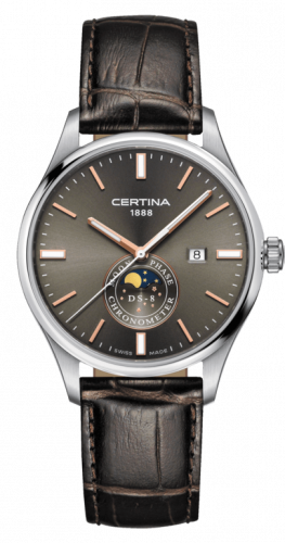 C033.457.16.081.00 : Certina DS-8 Moon Phase Stainless Steel / Anthracite / Strap