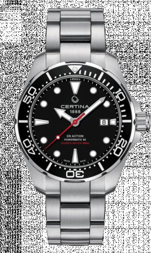 C032.407.11.051.00 : Certina DS Action Diver Powermatic 80 Stainless Steel / Black / Bracelet