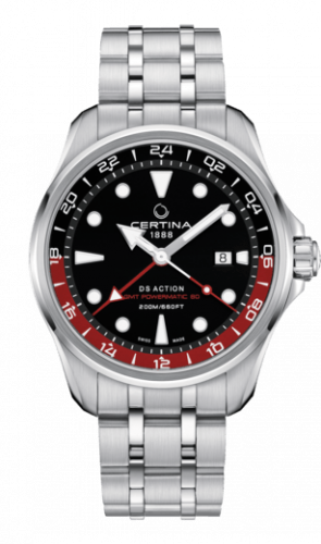 C032.429.11.051.00 : Certina DS Action GMT Powermatic 80 Stainless Steel / Black / Bracelet