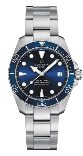 Certina C032.807.11.041.00 : DS Action Diver 38 Powermatic 80 Stainless Steel / Blue