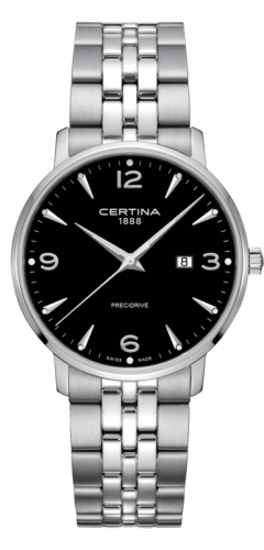 C035.410.11.057.00 : Certina DS Caimano 39 Stainless Steel / Black / Bracelet