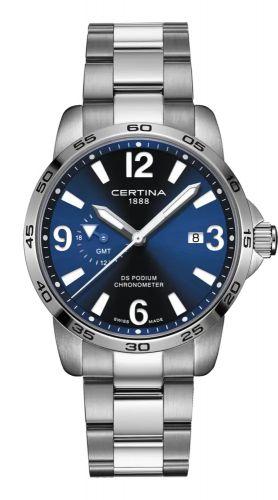 Certina C034.455.11.040.00 : DS Podium GMT Stainless Steel / Blue / Bracelet