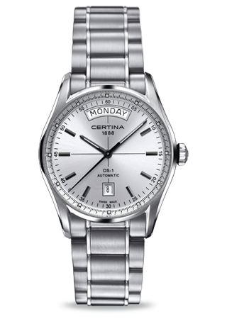 Certina C006.430.11.031.00 : DS-1 Day-Date Stainless Steel / Silver / Bracelet