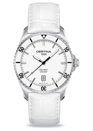 Certina C0144101601100 : DS First Ceramic White