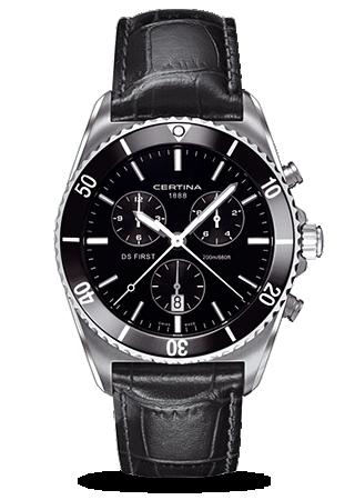 Certina C0144171605100 : DS First Ceramic Chronograph Leather
