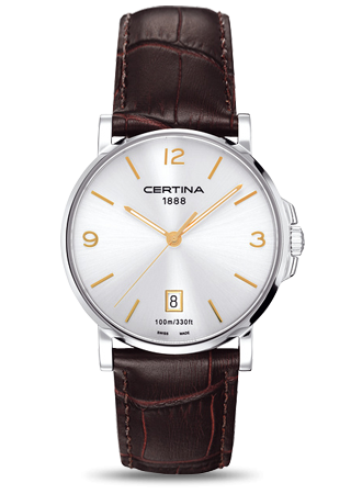 C0174101603701 : Certina DS Caimano Silver / Gold Index