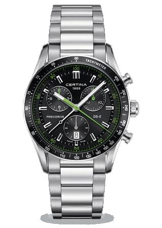 C0244471105102 : Certina DS 2 Chrono 1/100 Sec PreciDrive Green
