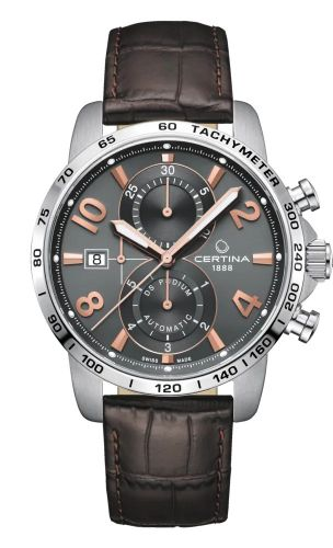 Certina C034.427.16.087.01 : DS Podium Chronograph Automatic Stainless Steel / Grey