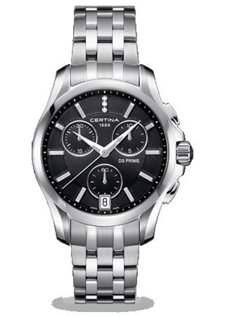 Certina C0042171105600 : DS Prime Chronograph Black