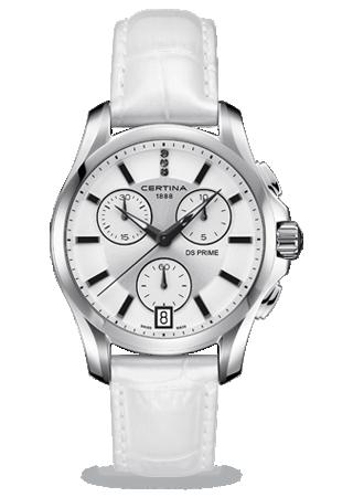 Certina C0042171603600 : DS Prime Chronograph White
