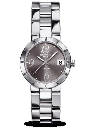 Certina C0092104408200 : DS  Stella Lady Titanium Grey