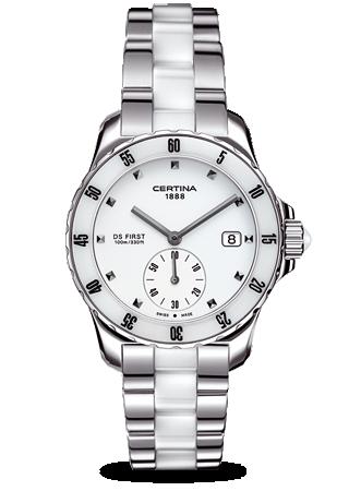 Certina C0142351101101 : DS First Lady Ceramic White Bracelet