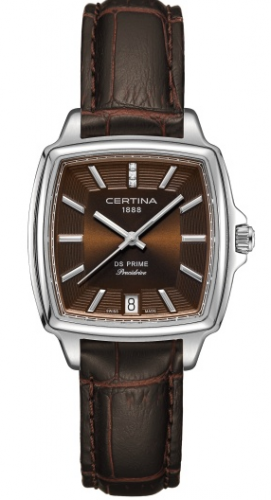 Certina C0283101629600 : DS Prime Lady Shape Brown