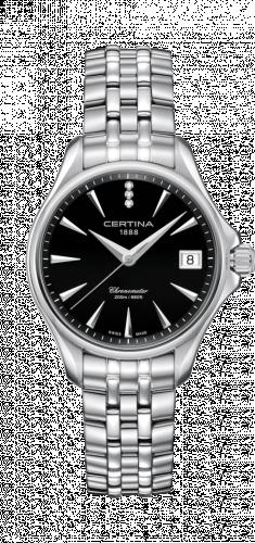 Certina C032.051.11.056.00 : DS Action Diamonds 33.8 Stainless Steel / Black