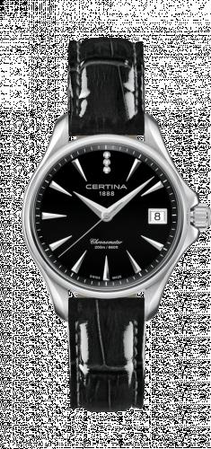 Certina C032.051.16.056.00 : DS Action Diamonds 33.8 Stainless Steel / Black / Strap