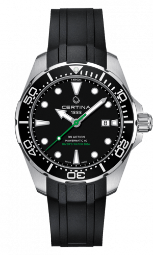Certina C032.407.17.051.00 : DS Action Diver Powermatic 80 43 Stainless Steel / Black / Rubber