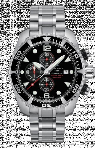 C032.427.11.051.00 : Certina DS Action Diver Chronograph Automatic Stainless Steel / Black / Bracelet