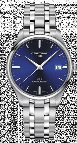 Certina C033.451.11.041.00 : DS-8 Chronometer Stainless Steel / Blue / Bracelet