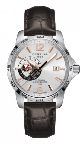 Certina C034.455.16.037.01 : DS Podium GMT Stainless Steel / Silver