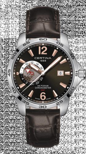 Certina C034.455.16.087.01 : DS Podium GMT Stainless Steel / Brown