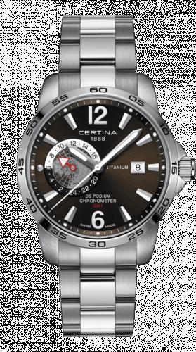 Certina C034.455.44.087.00 : DS Podium GMT Titanium / Grey / Bracelet